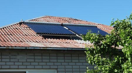 Saulės kolektorių sistema sumontuota Marijampolėje